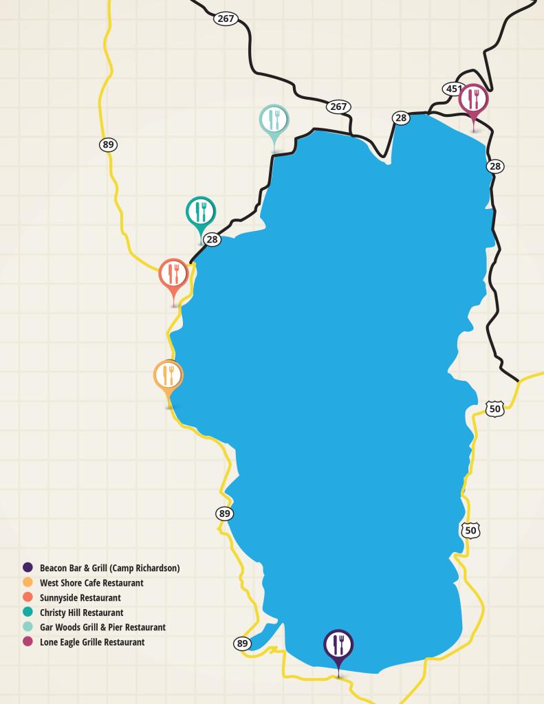 Map of Restaurants in Tahoe